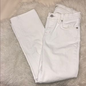 Madewell white distressed skinny jeans